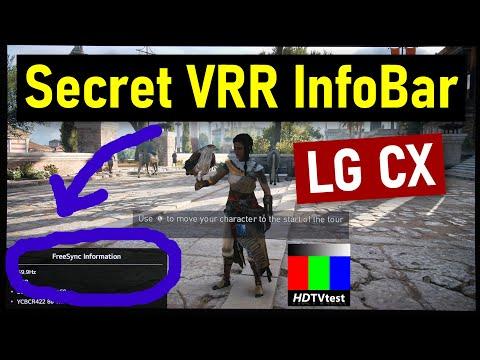 LG CX Has A Secret G-SYNC/ Freesync/ HDMI 2.1 VRR Information Bar