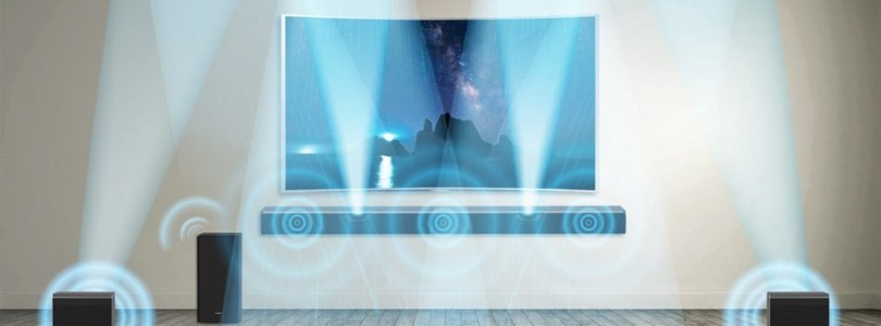 Samsung: Dolby-Atmos-Soundbar mit drahtlosen Enabled-Surround-Boxen