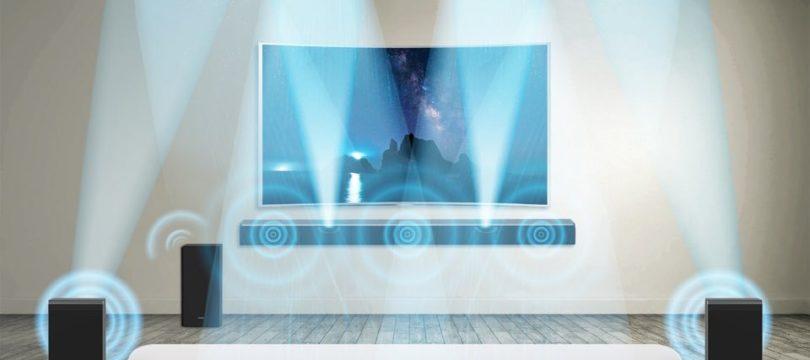 Samsung: Dolby-Atmos-Soundbar mit drahtlosen Enabled-Surround-Boxen