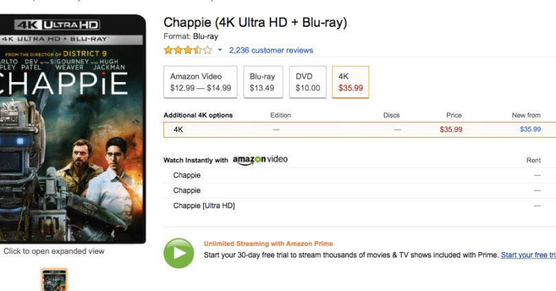 Ultra HD Blu-ray: Amazon.com listet Sony-Titel, senkt Preise von Fox-Discs