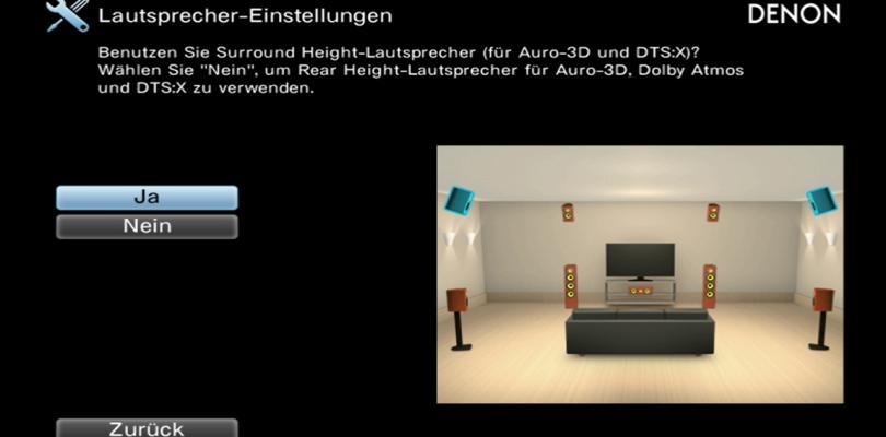 Parallelbetrieb von Auro-3D und DTS:X auch mit Surround-Height-Boxen