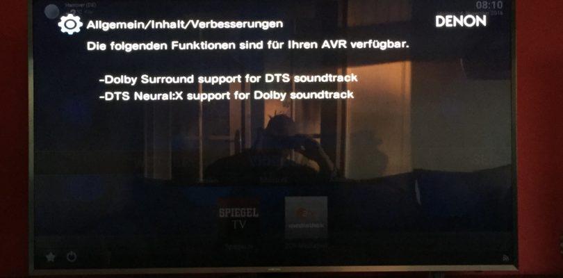 Cross-Format-Upmixing-Update für Denon AVR-X4200W und -X6200W