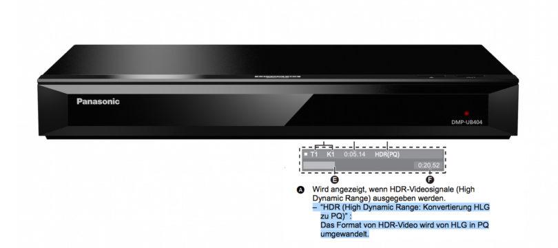 Panasonic: HLG-Unterstützung bei UHD-BD-Playern – und was das bedeutet