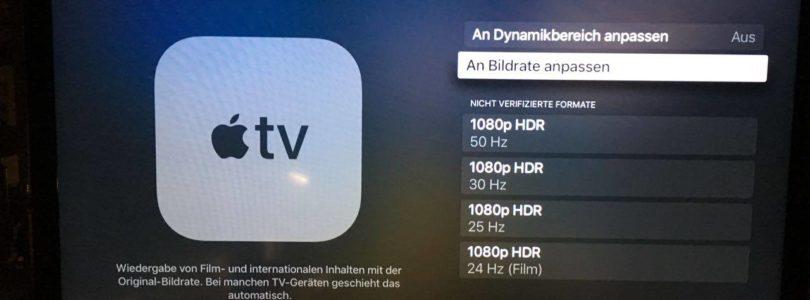 Apple TV 4K: tvOS 11.2 für flexibleren Umgang mit Dolby Vision und 24p