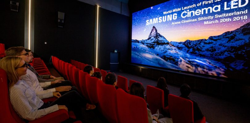 """Samsung Onyx Cinema LED"": Kinosaal mit LED-Bildwand statt Projektion"