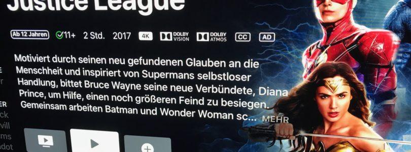 Filme mit Dolby Atmos auf Apple 4K TV: Ausspielung hat begonnen