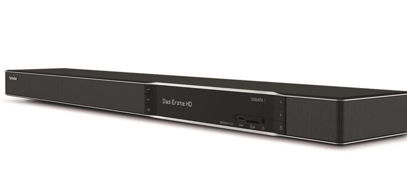 TechniSat Sonata 1: Soundbar mit eingebautem UHD-TV-Receiver