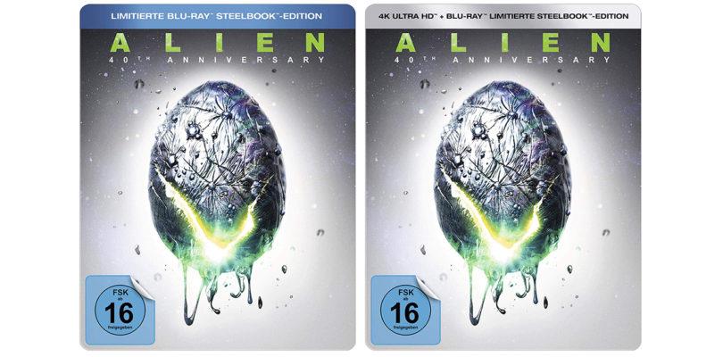 """""""Alien – 40th Anniversary"""": Steelbook-Editionen von 4K-Blu-ray und Blu-ray Disc im Vorverkauf"""