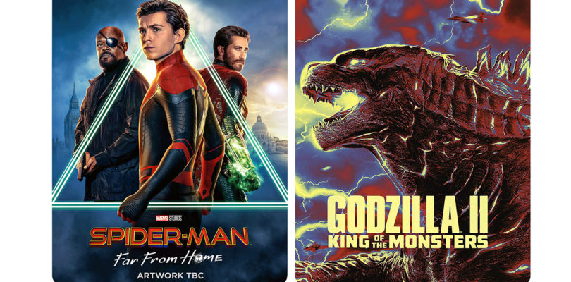 """Steelbooks von """"Spider-Man: Far From Home"""" und """"Godzilla II"""""""