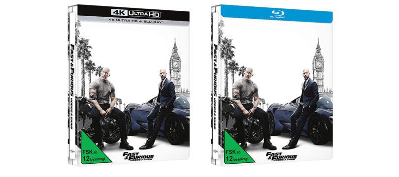 """""""Fast & Furious: Hobbs & Shaw"""" auch als Steelbook-Editionen"""