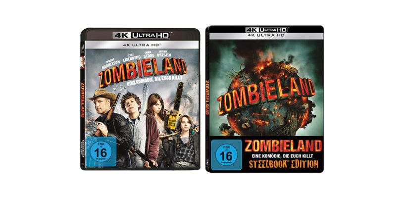 """""""Zombieland"""" auf 4K-Blu-ray mit englischem Atmos-Ton und auch als Steelbook"""