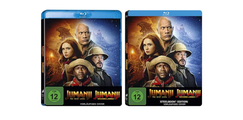 """Jumanji""-Neuverfilmungen: Blu-ray Discs im (Steelbook-)Doppelpack"