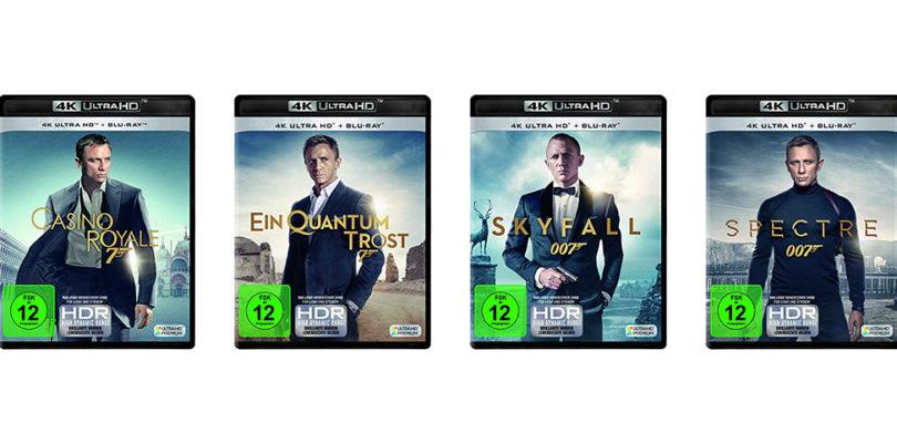 """""""James Bond"""": Filme mit Daniel Craig nun einzeln auf 4K-Blu-ray vorbestellbar"""