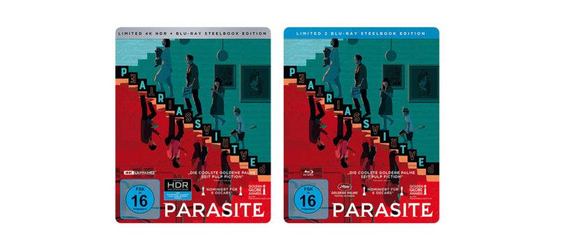 """""""Parasite"""": Limitierte Steelbooks von 4K-Blu-ray und Blu-ray Disc"""