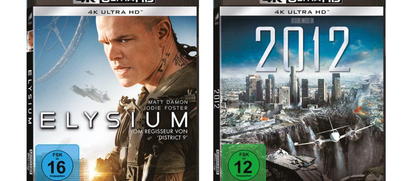 """Sony bringt """"Elysium"""" und """"2012"""" auf 4K-Blu-ray (Update)"""