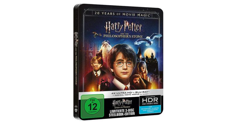 """""""Harry Potter und der Stein der Weisen"""": 4K-Blu-ray in Jubiläumsedition als Steelbook (Update)"""