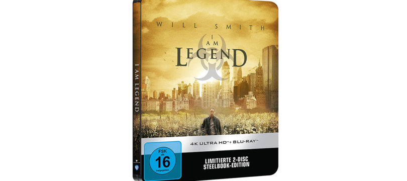"""""""I Am Legend"""": 4K-Blu-ray in limitierter Steelbook-Edition"""