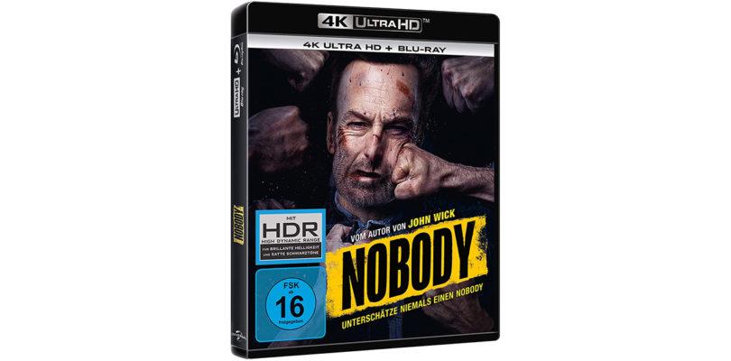 """""""Nobody"""": 4K-Blu-ray und Blu-ray Disc mit deutschem und englischem Atmos-Ton"""