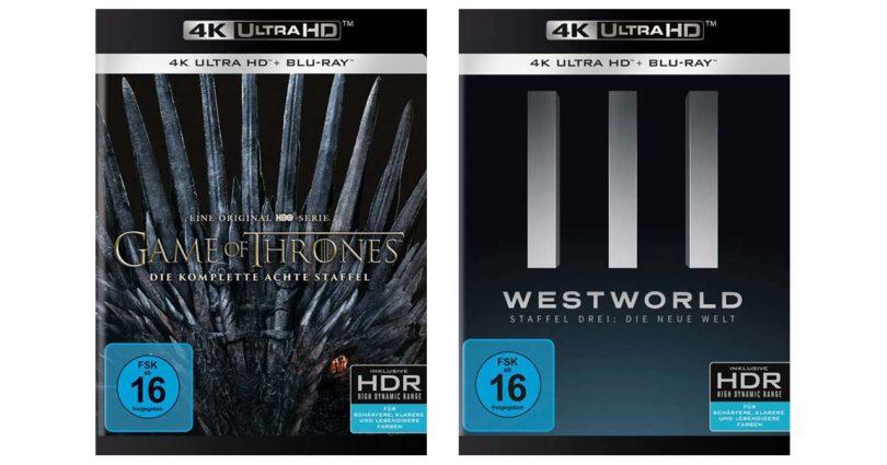 Westword Staffel 3 und GoT Staffel 8 erscheinen auf gewöhnlichen 4K-Blu-rays