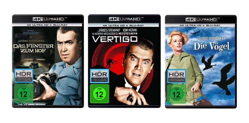Hitchcock-Klassiker einzeln als gewöhnlichen Ultra HD Blu-rays